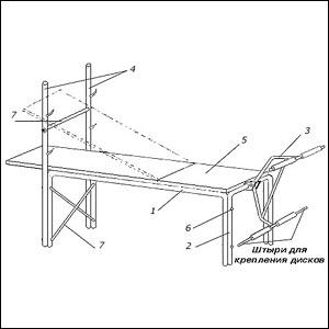 Схема тренажера для ног 259