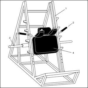 Схема тренажера для ног 458