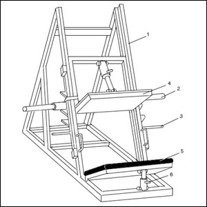 Чертеж тренажера для жимов ногами под углом 45 градусов