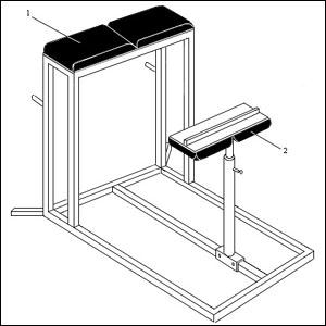 Чертеж тренажера Римский стул - 2