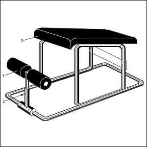 Чертеж тренажера Римский стул - 3